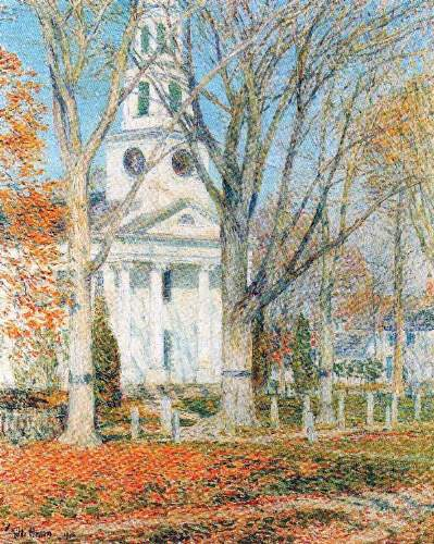 Childe Hassam - The Church of Old Lyme, Connecticut [1]
